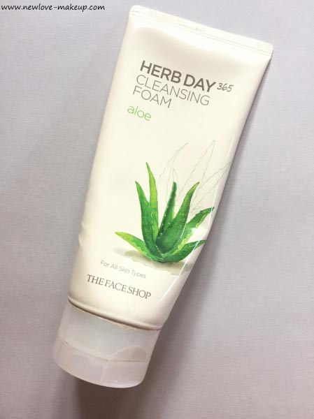 The Face Shop Herb Day 365 Cleansing Foam Aloe Face Wash Review
