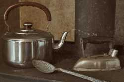 the kettle, the iron box, and the ladle
