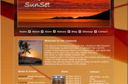 The Sunset- Website theme created by me for The Weebly theme design contest!