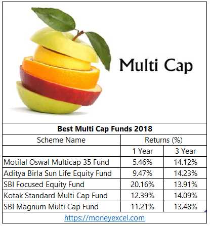 Top 5 Best Multi Cap Funds For Investment