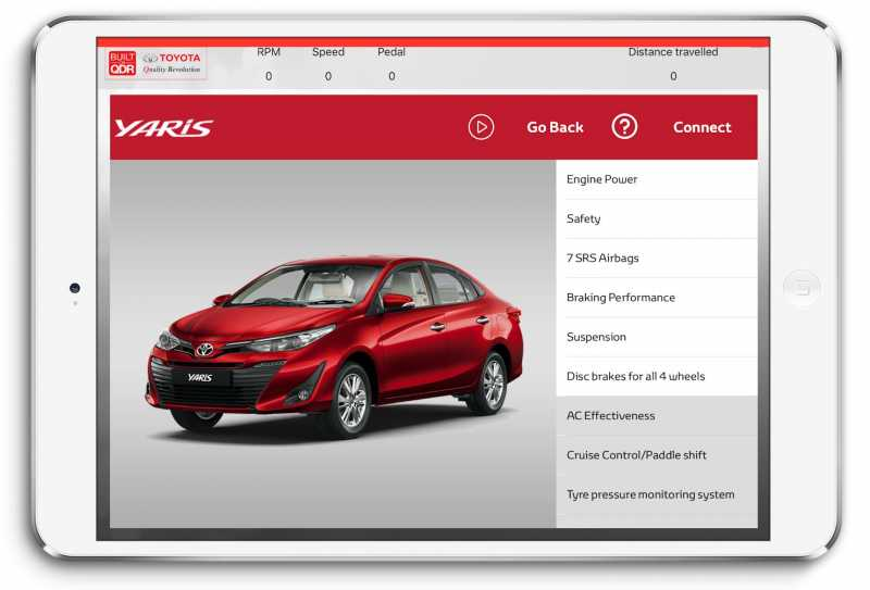Toyota India Launches Interactive Test Drive Application