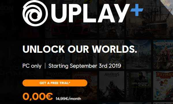 Ubisoft Uplay Plus :Free Subscription For 1 Month Worth €14 - Vlivetricks