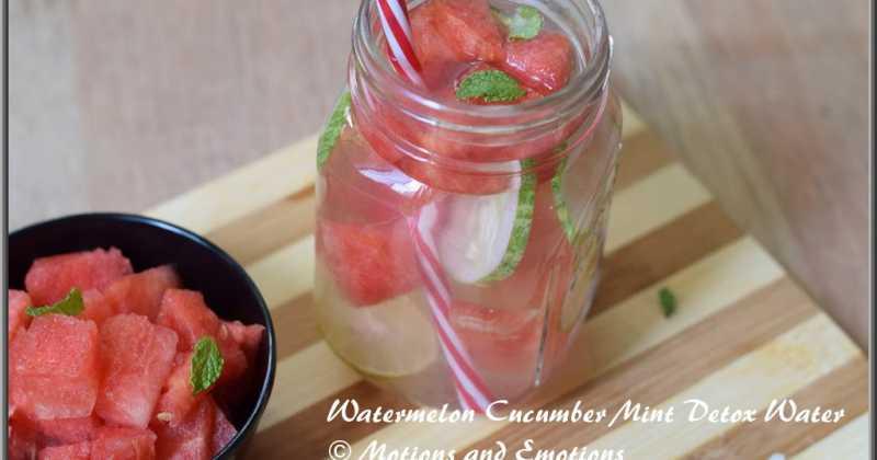 Watermelon Cucumber Mint Detox Water