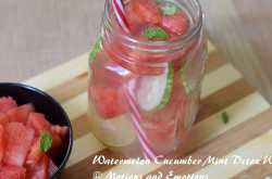 watermelon cucumber mint detox water