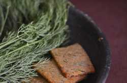 Whole wheat dil leaves crackers recipe