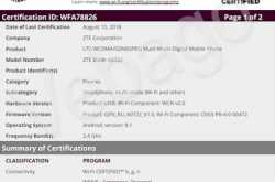 ZTE Blade A0722 clears Wi-Fi Alliance and 3C Certification in China, Launch Imminent?