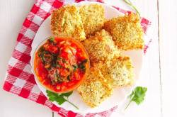 Air Fryer Ravioli with Bell Pepper and Spinach Marinara   The Picky Eater