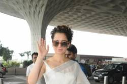 Airport Diaries: Kangana Ranaut heads to Coimbatore wearing a beautiful white saree