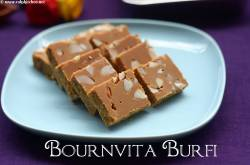 Bournvita Burfi Recipe, Bournvita Besan Burfi - Raks Kitchen