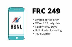 BSNL FRC 249 Plan Launched, Offers 2GB Daily Data And Unlimited Calling