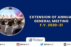 Extension For Conducting AGM Till 30 November 2021