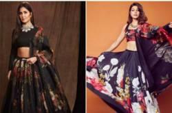 Fashion Faceoff: Katrina Kaif Or Jacqueline Fernandez; Whose Black Floral Lehenga Do You Like Better?