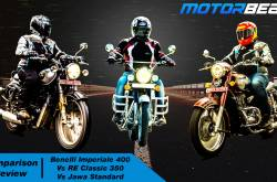 Jawa Standard vs RE Classic 350 vs Benelli Imperiale 400 - Hindi [Video]