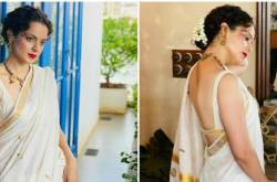 Kangana Ranaut Looks Ethereal As She Styles Her Classic White Saree With A Red Lip; Yay Or Nay?