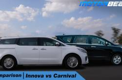 Kia Carnival Vs Toyota Innova Comparison - Hindi [Video] | MotorBeam