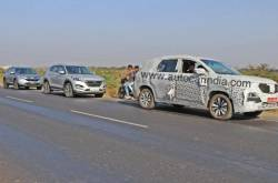 MG Hector Spotted Testing With Hyundai Tucson And Honda CR-V!