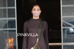 PICS: Pooja Hegde Looks Stunning In A Monochromatic Outfit As She Gets Papped After Dubbing Session