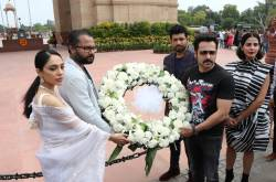 Sobhita Dhulipala And Emraan Hashmi Pay Tributes At Amar Jawan Jyoti During The Promotions Of Their Web Series