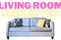 The Pretty City Girl: Living Room Makeover On A Budget