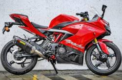TVS Apache RR 310 Akrapovic Exhaust Launched | MotorBeam